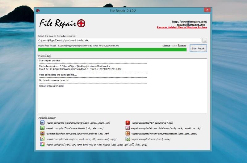 Come recuperare un file danneggiato. Programma gratuito per riparare file corrotti testo, archivio e imamgini.