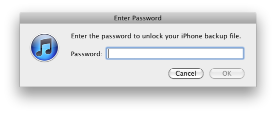 Come recuperare la password dei backup iTunes codificati