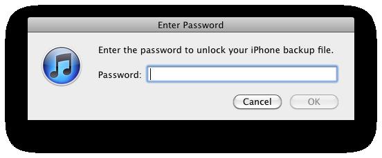 Come recuperare la password dei backup iTunes codificati